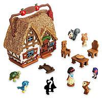 Disney Микро аниматор домик Белоснежки Disney Animators' Collection Snow White Micro Playset