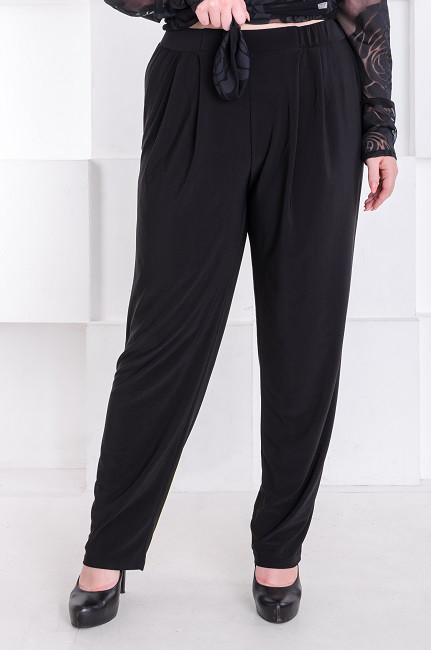96dacc4ffa0 Стильные брюки женские батал Трейси черные (60-70) - цена 475 грн ...