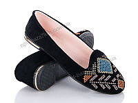 Балетки женские Jumay Вышивка black (36-40) - купить оптом на 7км в одессе