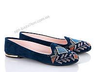 Балетки женские Jumay Вышивка blue (36-40) - купить оптом на 7км в одессе