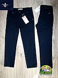 Стильный брендовый комплект Armani для мальчика 3-4 года: белая рубашка и синие брюки, фото 5