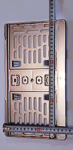 Рамка под американский номер 322мм. х150-165мм, хром