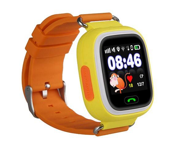 Детские часы-телефон с GPS WONLEX Q90S Orange