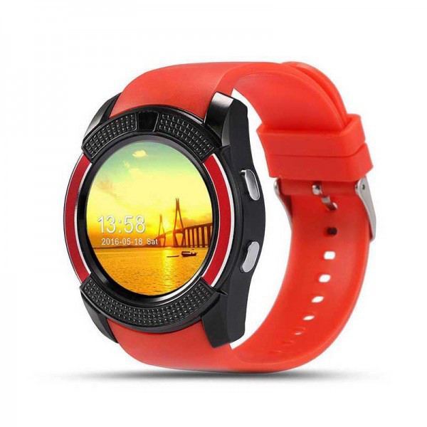 Часы-телефон Smart Watch V8 Red