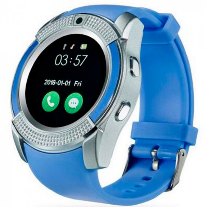 Часы-телефон Smart Watch V8 Blue