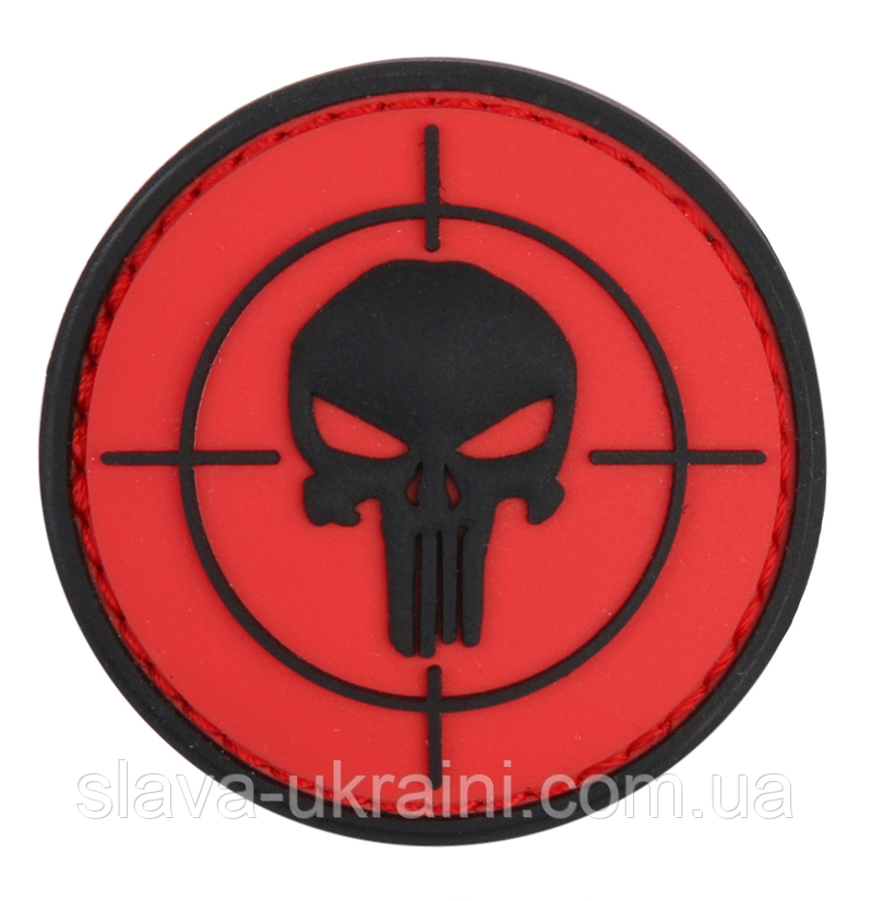 101 INC Punisher Sight 3D PVC Patch Black/Red