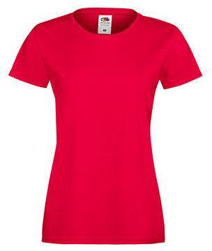 Женская футболка с вырезом 414-40-k435  fruit of the loom