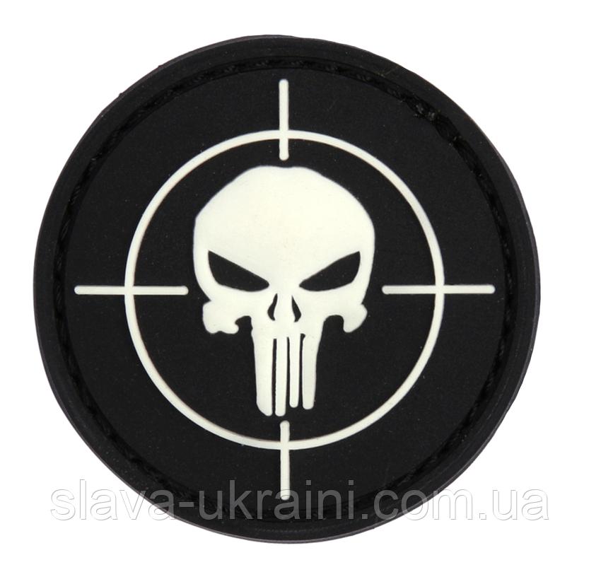 101 INC Punisher Sight 3D PVC Patch Black/white