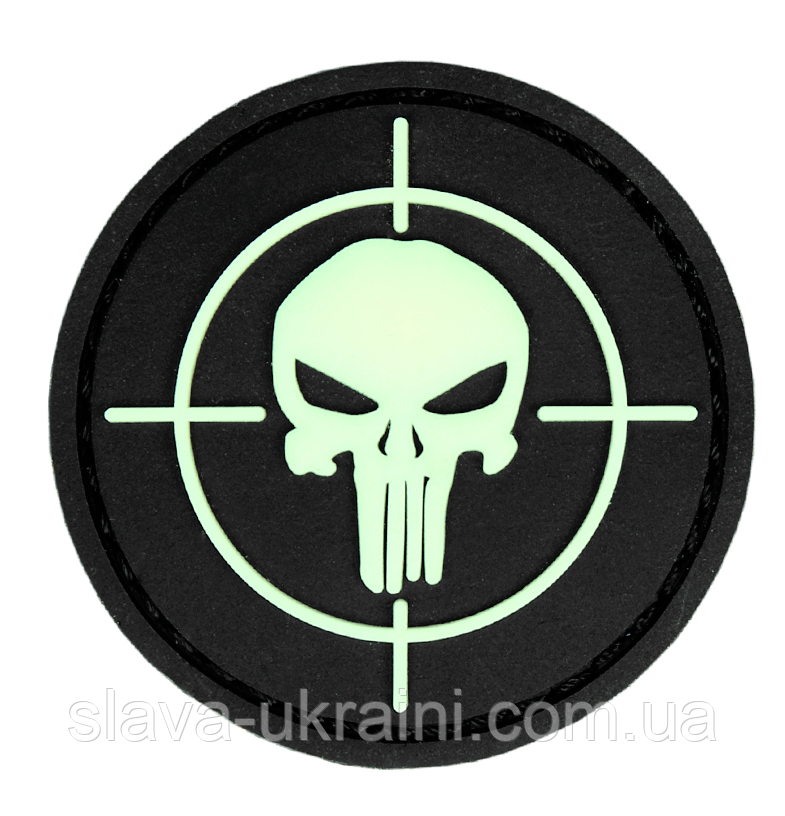 101 INC Punisher Sight 3D PVC Patch Black/Gid