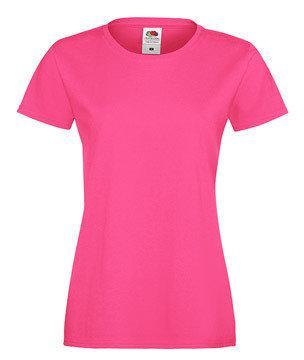 Женская футболка с вырезом 414-57-k439  fruit of the loom