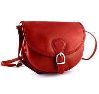 Женская кожаная итальянская сумка TWR-26-1 Red