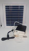 Сонячна панель SPM-4W 5V USB+Повер банк 10400mA (4800mA реальна ємність), фото 1