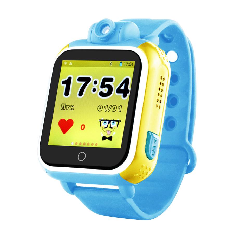 Детские умные смарт часы-телефон с GPS трекером Smart Watch Q200-SW Голубые (SW-018BE)