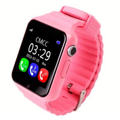 Умные детские часы Homebarl WG800S/V7K GPS Pink