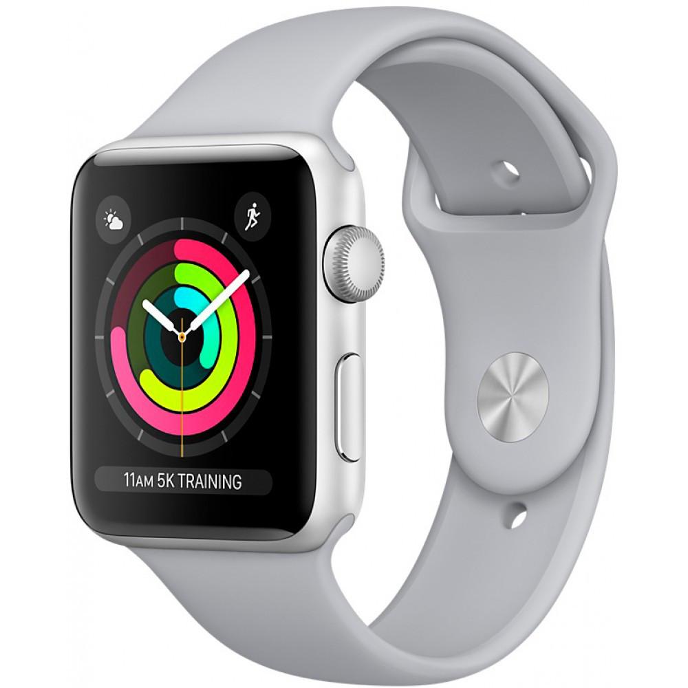 Apple Watch Series 3 GPS 42 мм Silver Aluminium Case with Fog Sport Band (MQL02)