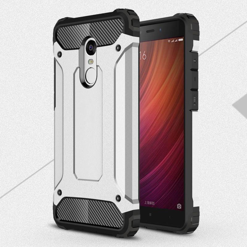 Чехол Guard для Xiaomi Redmi Note 3  / Note 3 pro Бампер бронированный Immortal Silver