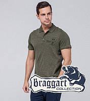 Мужская стильная футболка поло Braggart - 103 хаки