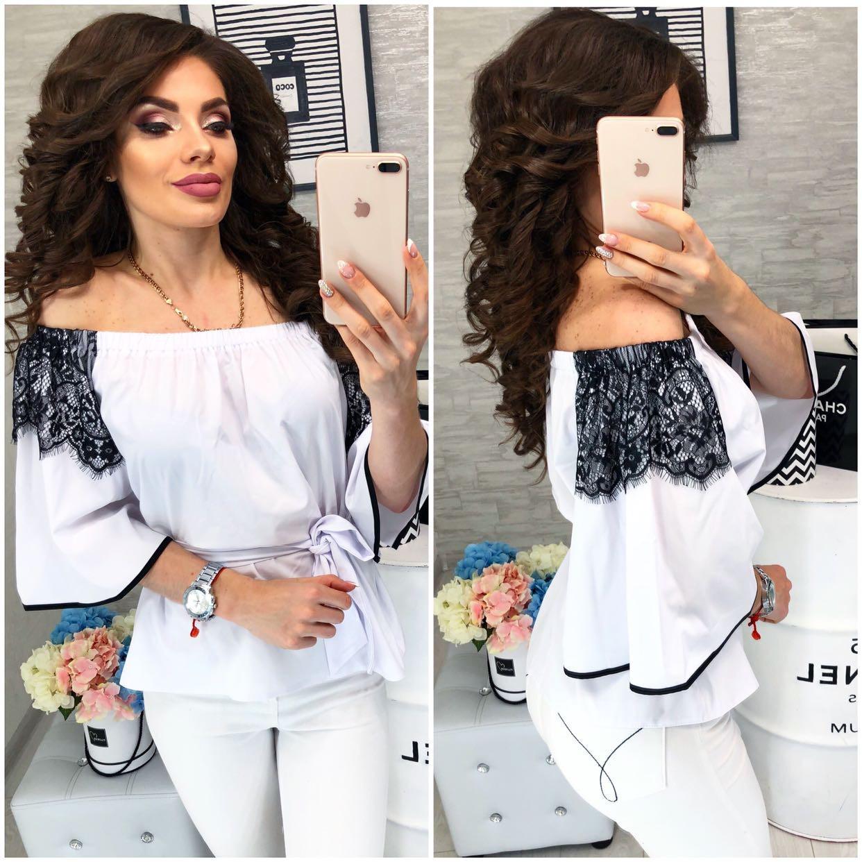 Блуза женская, модель107, цвет - белый