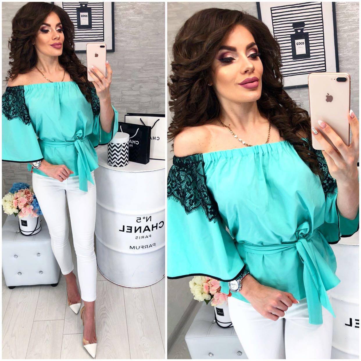 Блуза жіноча, модель 107, колір - бірюза