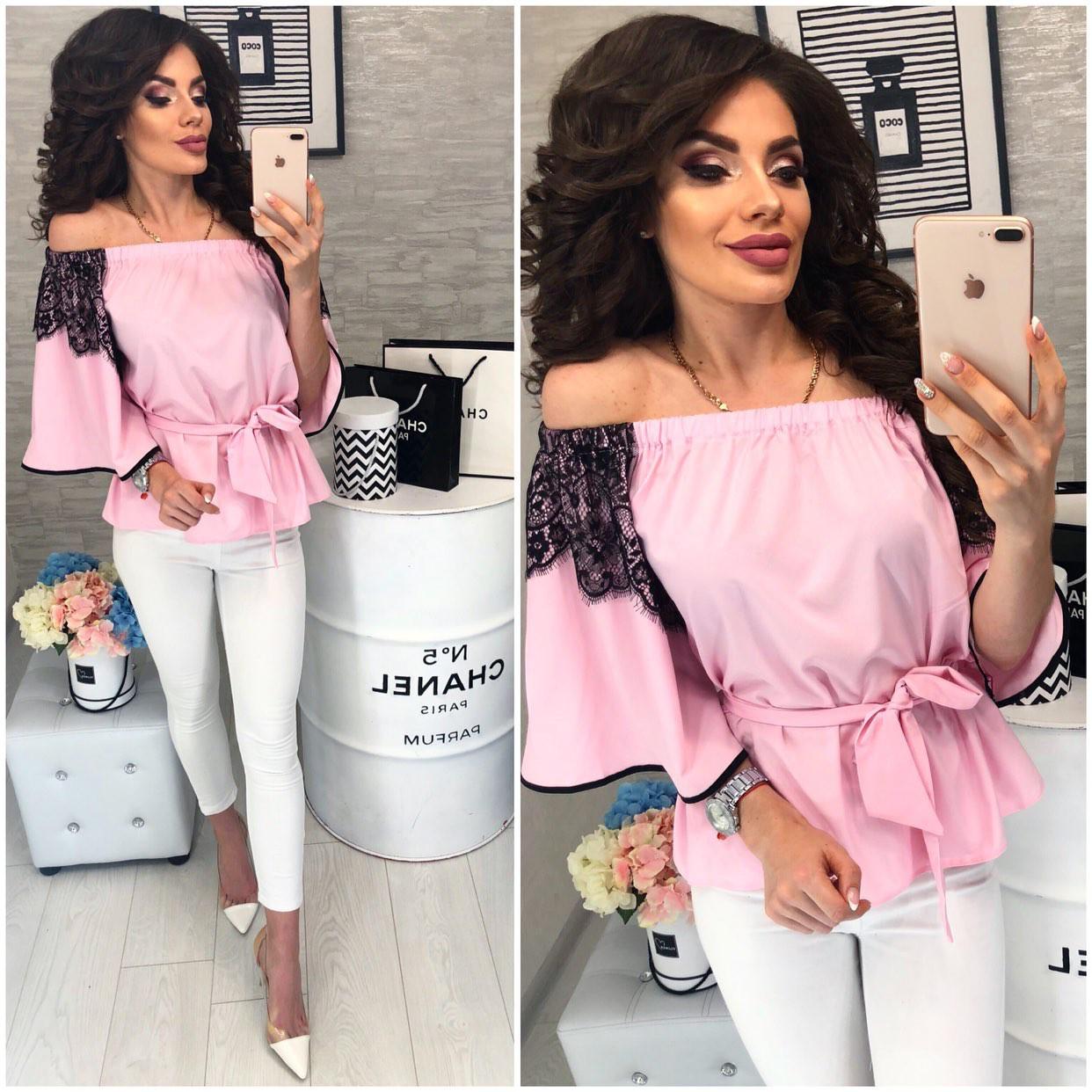 Блуза женская, модель 107, цвет - розовый