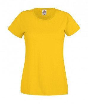 Женская  футболка с вырезом хлопок 420-34-k453  fruit of the loom