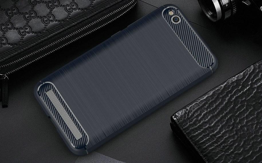 Чехол Carbon для Xiaomi Redmi 5A бампер Blue