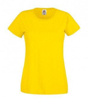 Женская  футболка с вырезом хлопок 420-K2-k467  fruit of the loom