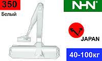 Доводчик з фіксацією для дверей NHN-350 Білий (Японія). Аналог Dorma TS68.