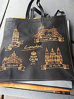 Эко-сумка из спанбонда на молнии (размер: 50*42*15 см)
