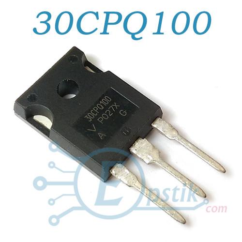 30CPQ100, Два диода Шоттки 2x15А, 100В, TO247
