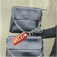 Сумка натуральная кожа   интернет магазин кожаных сумок KT32235 серый и черный, фото 1