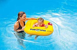 Плотик для плавания для малышей.Плотик для плавания c сиденьем и спинкой.Плотик для плавания INTEX.