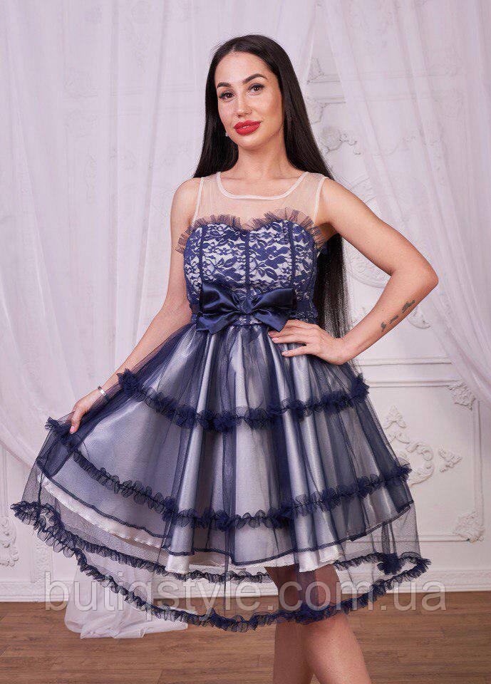 95c7bf0921a Эффектное красивое женское платье с бантом сетка