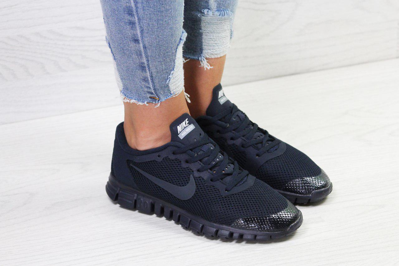 65932620c1b1 Женские кроссовки летние Nike Free Run 3.0 темно синие - Интернет-магазин  Дом Обуви в