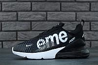 "Кроссовки мужские Nike Air Max 270 Flyknit x Supreme ""Черные"" найк аир макс р.41-45"