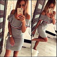 Платье летнее-сарафан в стиле Gucci с воланом  !, фото 1