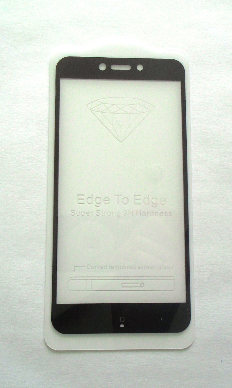 Защитное 5D стекло Xiaomi Redmi 4X Black  full Screen