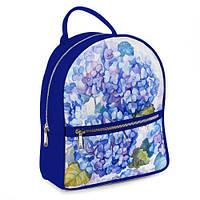 Стильный  городской молодежный рюкзак с цветочным принтом.
