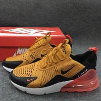 """Кроссовки унисекс Nike Air Max 270 Orange """"Оранжевые"""" найк аир макс р.36-45, фото 1"""