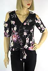 Блуза з відкритими плечами і яскравим квітковим принтом  Stefano, фото 3