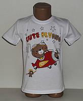 """Детская футболка на мальчика """" Мишка на самолете """"  1,2,3,4,5 лет"""