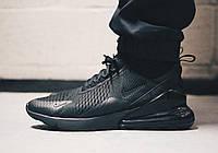 """Кроссовки мужские Nike Air Max 270 Black """"Черные полностью"""" найк аир макс р.40-45, фото 1"""