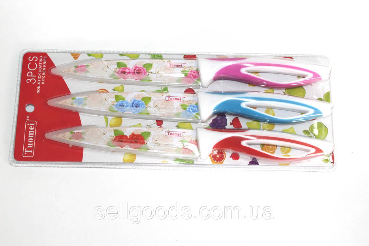 Набор ножей 3 шт нерж пластиковая ручка