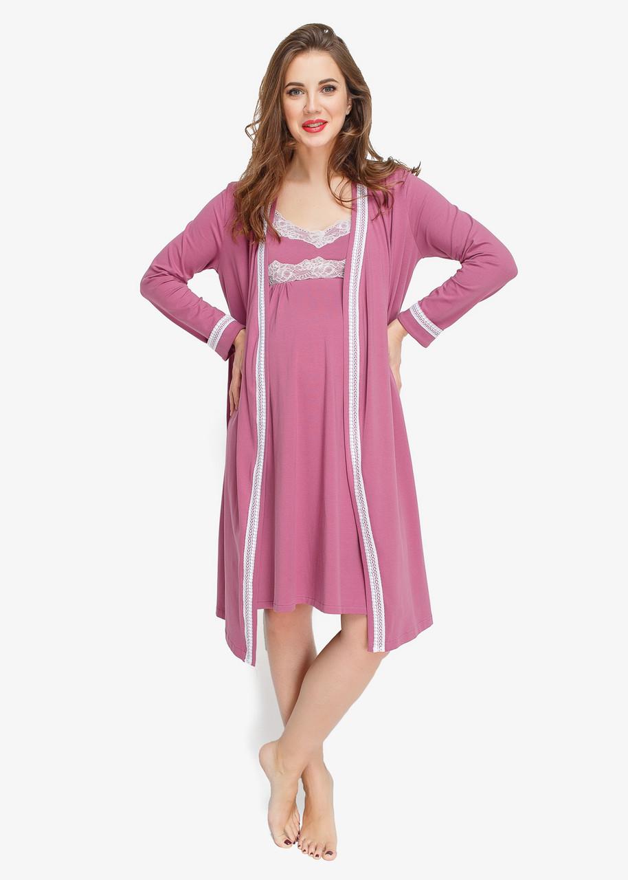 Комплект в роддом халат+ночная рубашка candy(хлопок)  продажа ef1172e888fa3