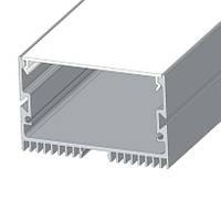 Комплект профиль для светодиодной ленты накладной LS-70 алюминиевый с матовой крышкой (2м, 3м, 4м, 6м)