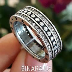 Серебряное кольцо Пандора с цирконием
