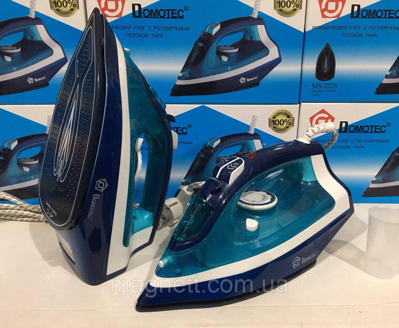 Паровой утюг Domotec MS-2228 керамика 2200вт
