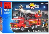 Конструктор BRICK Пожарная тревога в кор 466дет 35*26*6см 904 (30)