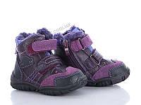 "Ботинки детские  ""Clibee""(H-251 purple) 6 пар р.21-26 (GB-1239СН)"