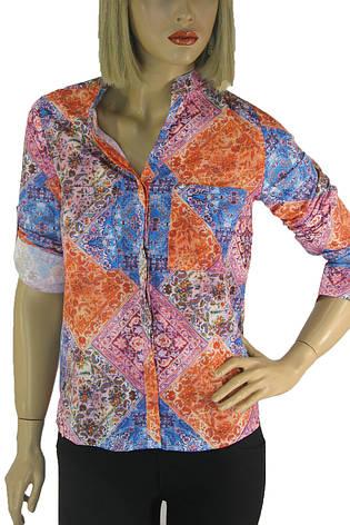 Жіноча літня сорочка з яскравим квітковим принтом  Nanide, фото 2